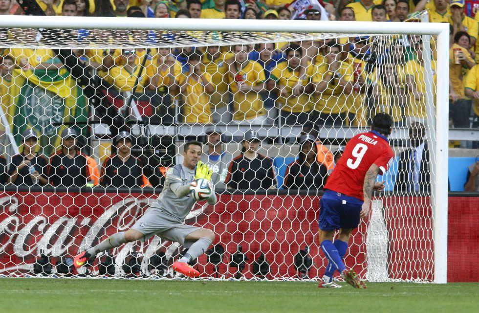 Brasil solo puede vencer a Chile en los penaltis